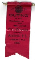 Image of Ribbon, Outing of the Manchester and Lowell City Councils - September 11, 1895 - 1973.583.006