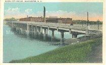 Image of Postcard, Queen City Bridge, Manchester, N.H. - 1974.214.013