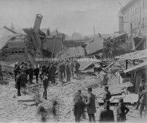 Image of Jeremiah Hodge's Shop, 485 Elm Street, Corner Auburn Street, Boiler Explosion - 1976.505.019