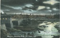Image of Postcard, Mills from Amoskeag Bridge, Manchester, NH - 1976.015.013
