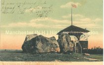 Image of Postcard, Tipping Rocks, Shirley Hill, Manchester, New Hampshire (Goffstown, NH)