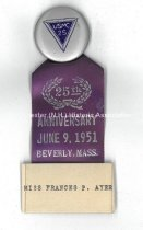 Image of Badge - Miss Frances P. Ayer - 25th Anniversary USMC, 1951 - 1977.049.666