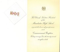 Image of Manchester High School Class of 1900 Commencement Invitation - 1977.049.M512