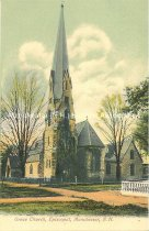 Image of Postcard, Grace Church, Episcopal, Manchester, N.H. - 1977.049.M635