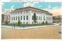 Image of Postcard, Carpenter Memorial Library, Manchester, NH - 1977.049.M645