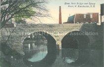 Image of Postcard, Stone Arch Bridge over Squog River, W. Manchester, NH - 1977.049.M674