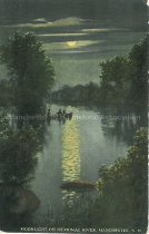 Image of Postcard, Moonlight on Merrimac River, Manchester, NH - 1977.063.004