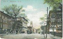 Image of Postcard, Elm St., Manchester, N.H. - 1977.077.001