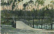 Image of Postcard, Bridge, Pine Island Park, Goffs Falls, Manchester, N.H. - 1977.094.014
