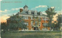 Image of Postcard, East Manchester, N.H., Hallsville School - 1977.115.001