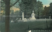 Image of Postcard, Manchester, N.H., Gen. Stark's Burial Place - 1977.121.001