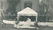 Image of Winter Carnival Parade - Manchester Dry Goods float - 1922 - 1977.148.003