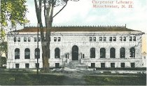 Image of Miniature Postcard, Carpenter Library, Manchester, NH - 1977.161.007