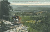 Image of Postcard, Down the Incline, Uncanoonuc Mountain Railway, Manchester, N.H. - 1978.118.007