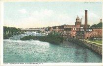 Image of Postcard, Merrimack River at Manchester, N.H. - 1980.080.001