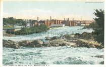 Image of Postcard, Amoskeag Falls and Mills, Manchester, NH - 1980.080.002