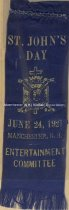 Image of Trinity Commandry Badge, St. John's Day - June 24, 1921, Manchester, N.H. - Entertainment Committee - 1980.047.003