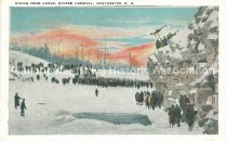 Image of Postcard, Diving From Ledge, Winter Carnival, Manchester, N.H. - 1981.085.013