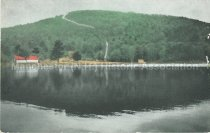 Image of Postcard, Uncanoonuc Lake and Mountain, Showing Incline Railway, Goffstown, N.H. - 1981.117.030.9