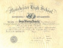 Image of Manchester High School Diploma - 1896 - 1981.145.149