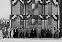 Image of Group Portrait— Officers, Directors, Managers, Dept.. Heads & Guests of the Public Service Company of NH - July 14, 1948. - 1984.108.003