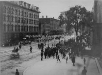 Image of Amoskeag Veterans Parading in Portland, Maine - 1888. - 1984.045