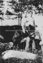 Image of Unidentified Boy with Cow - 1984.055.040