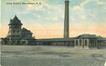 Image of Postcard, Union Station, Manchester, N.H. - 1984.100.001