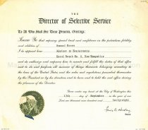 Image of Certificate of Samuel Green's appointment to Advisor to Registrants - 1985.054.014