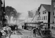 Image of Merrimack Street Baptist Church Fire, Between Pine & Union Streets - 1911 - 1989.044L.001