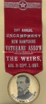 Image of Badge - Wm.I. Brown Camp at the New Hampshire Veterans' Association Encampment, 1897 - 1989.010.018