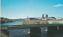 Image of Postcard, Granite Street & Mills, Manchester, NH - 1991.041L.001