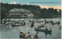 Image of Postcard, Boating at Pine Island Park, Manchester, N.H. - 1992.011L.009