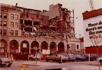 Image of Demolition of Merchants Bank Building and Barton Building, Elm Street - March, 1978 - 1993.002L.001