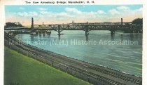 Image of Postcard, The New Amoskeag Bridge, Manchester, NH - 1993.101L.005.2