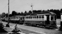 Image of Manchester Street Railway, St. Joseph's Cemetery Cars # 138, 92, 44, 74, and 88 - 1994.111L.001.23