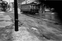 Image of Trolley Car, Massabesic and Spruce Streets, East Manchester - 1994.058L.026