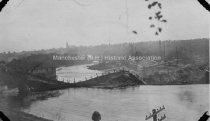 Image of Amoskeag Falls Covered Bridge, After Collapse - 2000.500.063