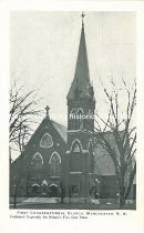 Image of Postcard, First Congregational Church, Manchester, NH - 2001.L002.006
