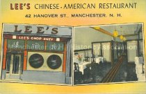 Image of Postcard, Lee's Chinese-American Restaurant, 42 Hanover St., Manchester, N.H. - 2001.L042.003