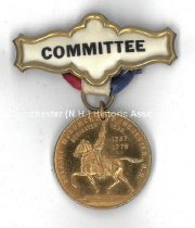 Image of Committee Badge - Pulaski Monument Dedicated - August 21, 1938 - 2003.015.005