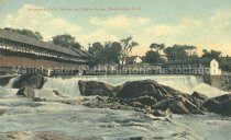 Image of Postcard, Amoskeag Falls, Bridge and Gate House, Manchester, NH - 2005.L019.005