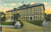 Image of Postcard, High School, Manchester, N.H. - 2005.L019.008
