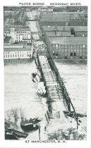Image of Postcard, Flood Scene, Merrimack River, at Manchester, N.H. - 2006.L006.001