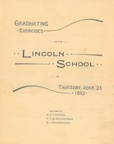 Image of Graduating Exercises of the Lincoln School - 2007.L019.001