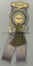 """Image of Manchester High School Reception Badge - 1903 """"Marshall"""" - 2007.L500.001"""