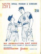 Image of Manchester Yankees Baseball Club 1971 Official Program & Scorecard - 2007.L500.006