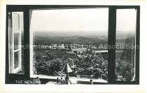 Image of Postcard, View from The Kenlaw Dining Room, 70 Mile Panorama, Top of Mt. Uncanoonuc, Goffstown, N.H., Route 2K - 2008.L507.002