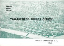 """Image of Apathy Breeds Chaos...""""Awareness Builds Cities"""" - 2011.021.012"""
