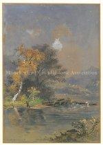 Image of untitled fishing scene - 2011.032.001